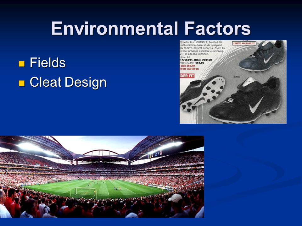 Environmental Factors Fields Fields Cleat Design Cleat Design