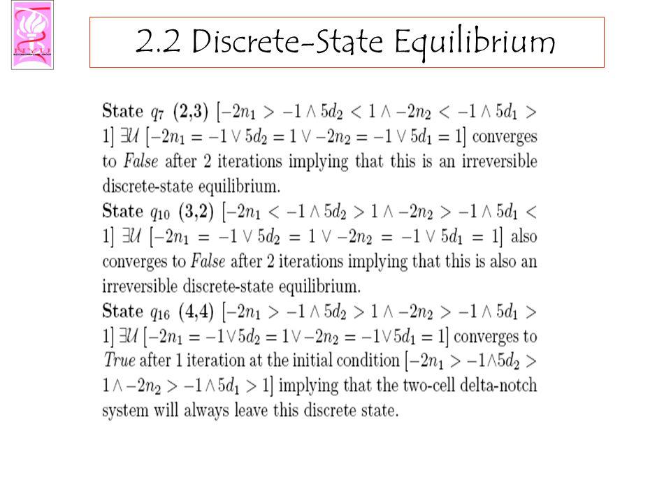 2.2 Discrete-State Equilibrium