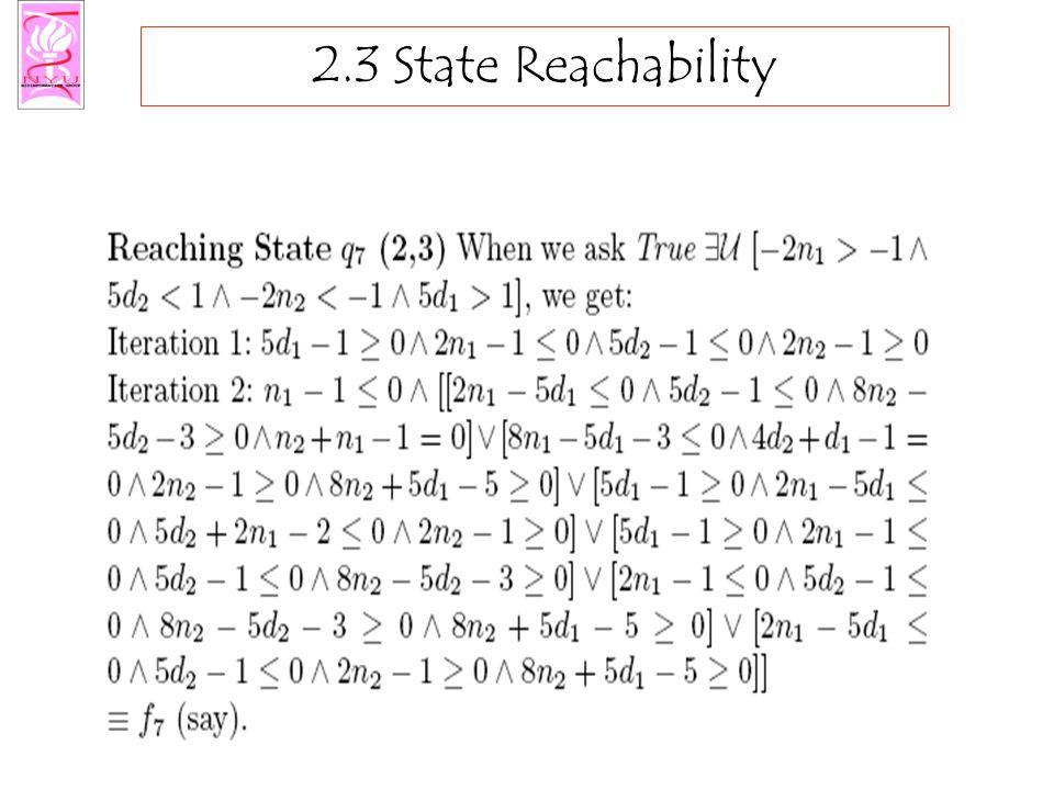 2.3 State Reachability
