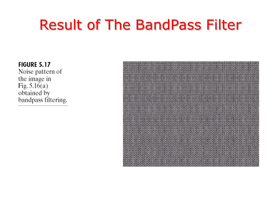 Result of The BandPass Filter