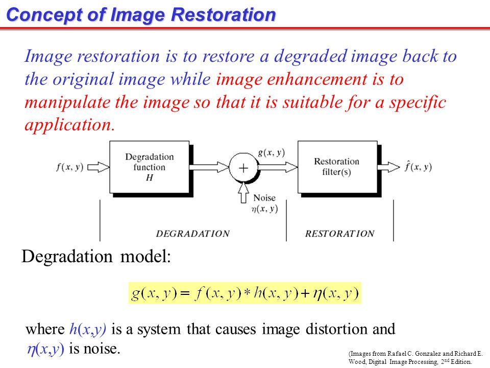 Example: Geometric Restoration (Images from Rafael C.