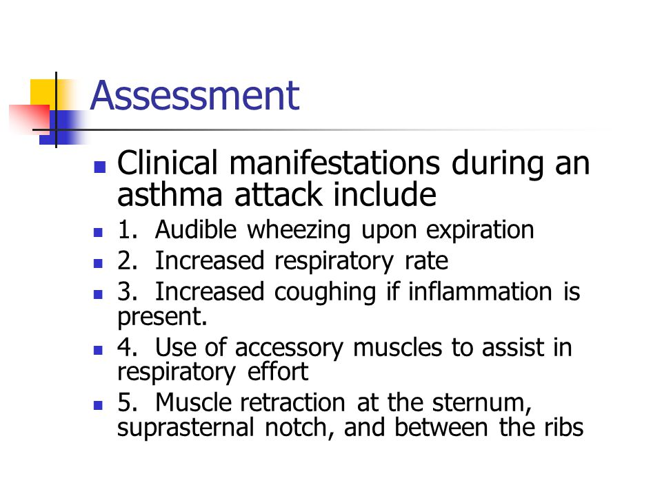 Assessment 6.Barrel chest in patient with persistent or severe asthma (See Figure 30-3, p.