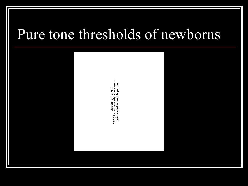 Pure tone thresholds of newborns