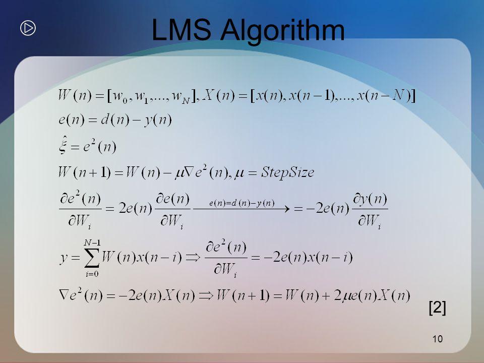 10 LMS Algorithm [2]