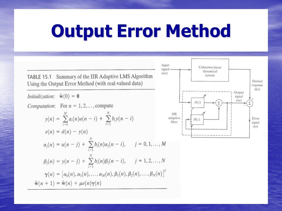 Output Error Method