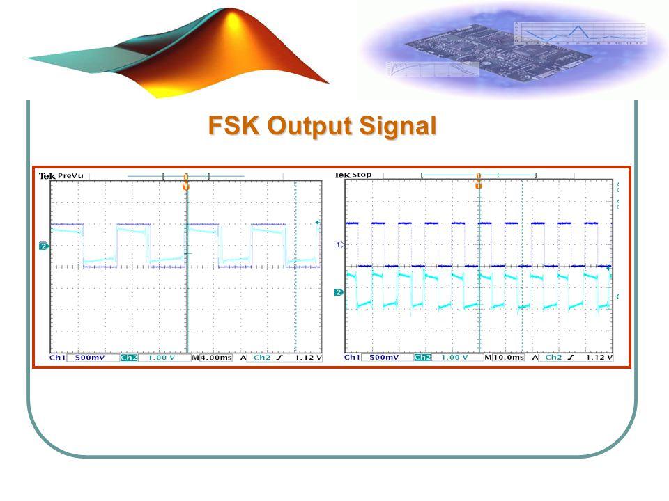 FSK Output Signal FSK Output Signal