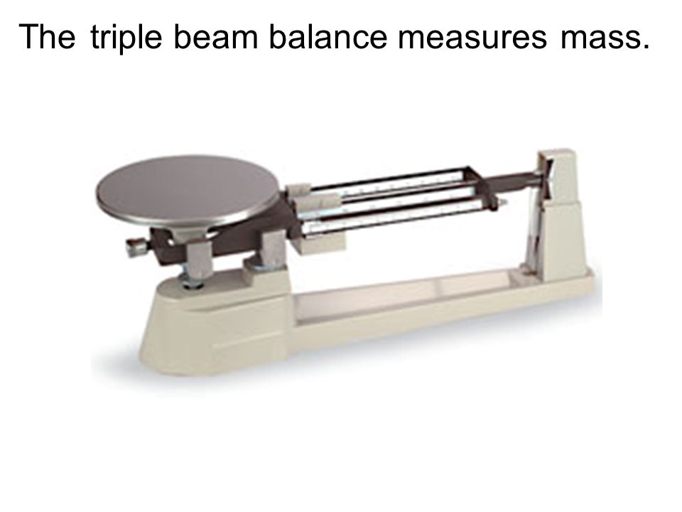 SWBAT...... zero, adjust, and read the triple beam balance.
