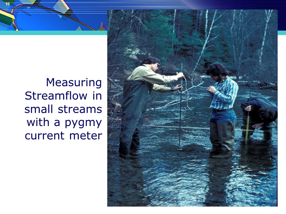 19 Measuring Streamflow in small streams with a pygmy current meter