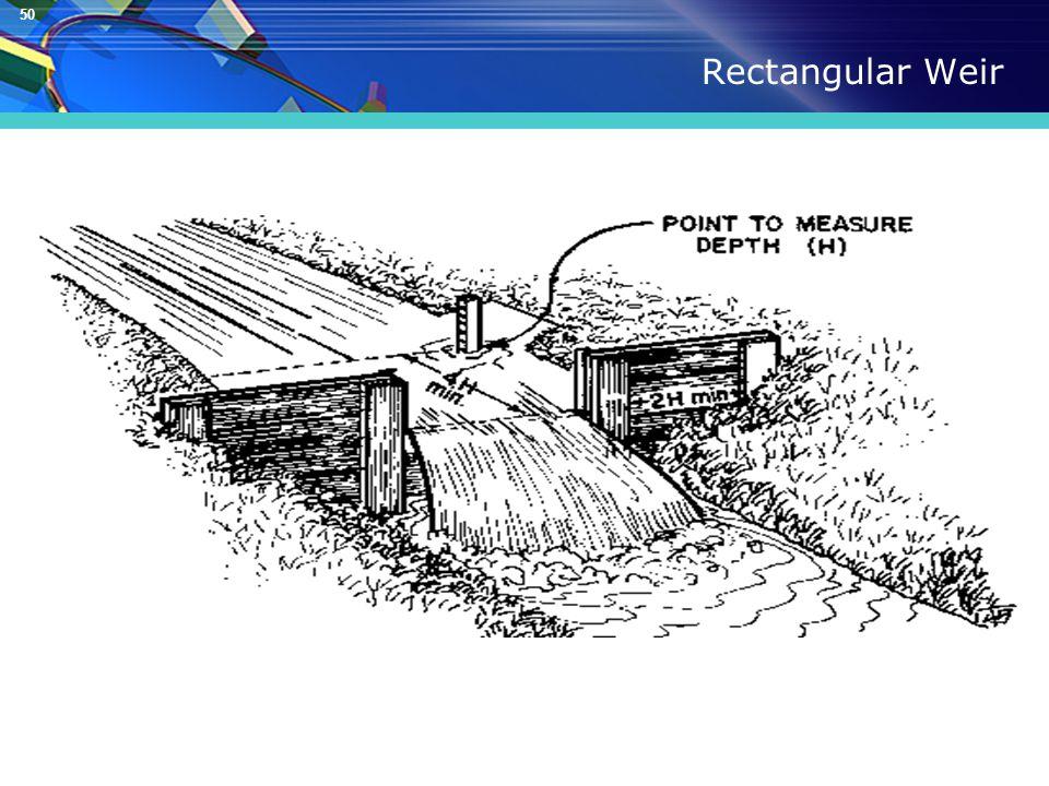 50 Rectangular Weir