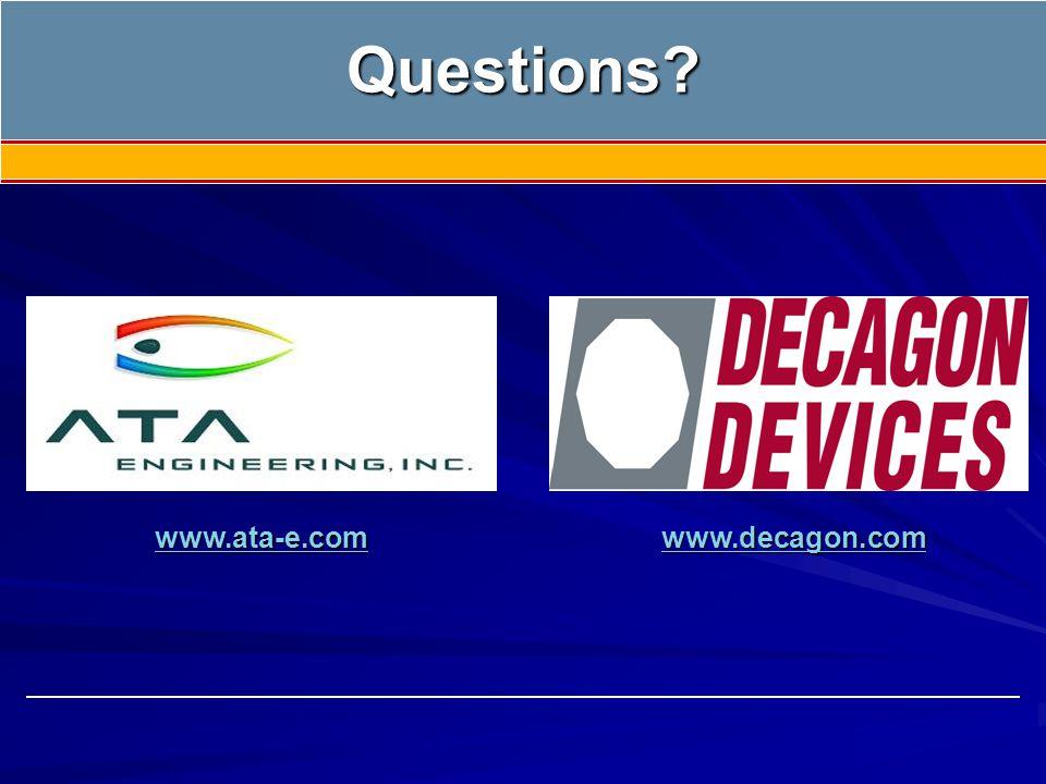 Questions? www.decagon.com www.ata-e.com