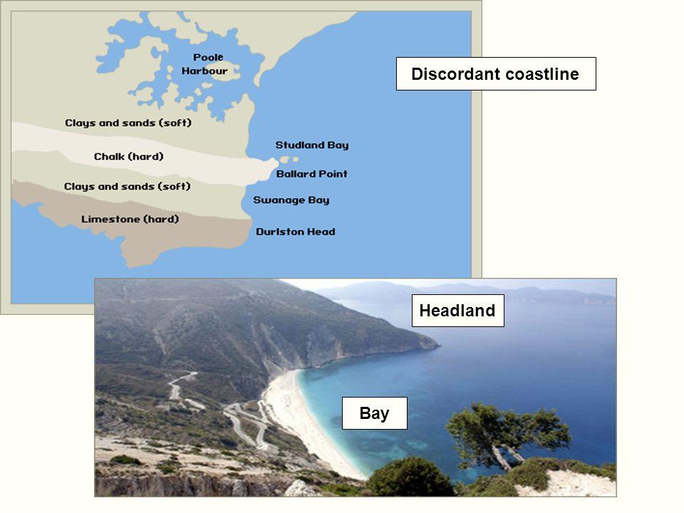Discordant coastline Headland Bay