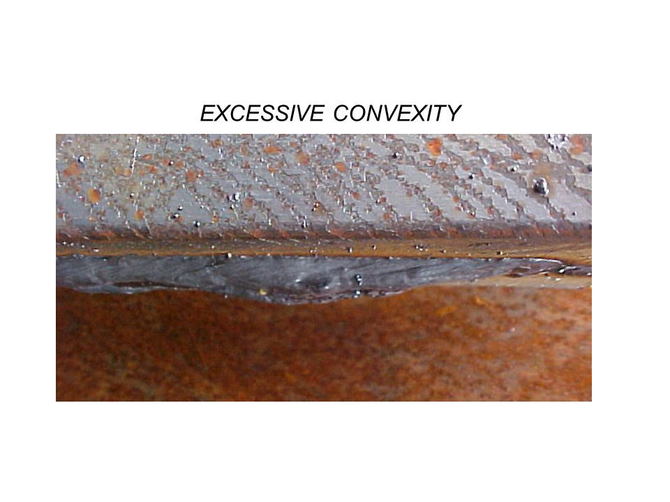 Excessive Concavity or Convexity Incorrect weld size a.Types 1.