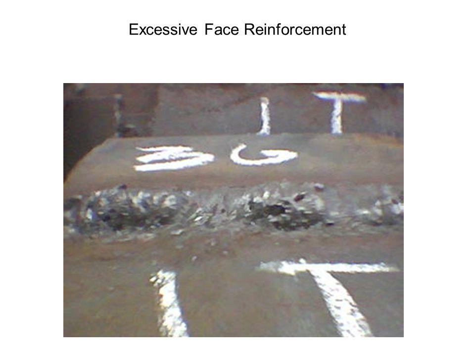 EXCESSIVE WELD REINFORCEMENT Incorrect weld profile Tie end
