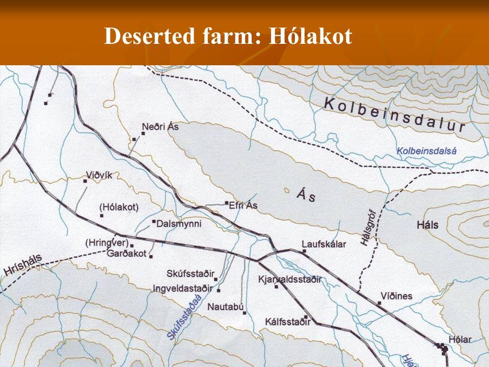 Deserted farm: Hólakot