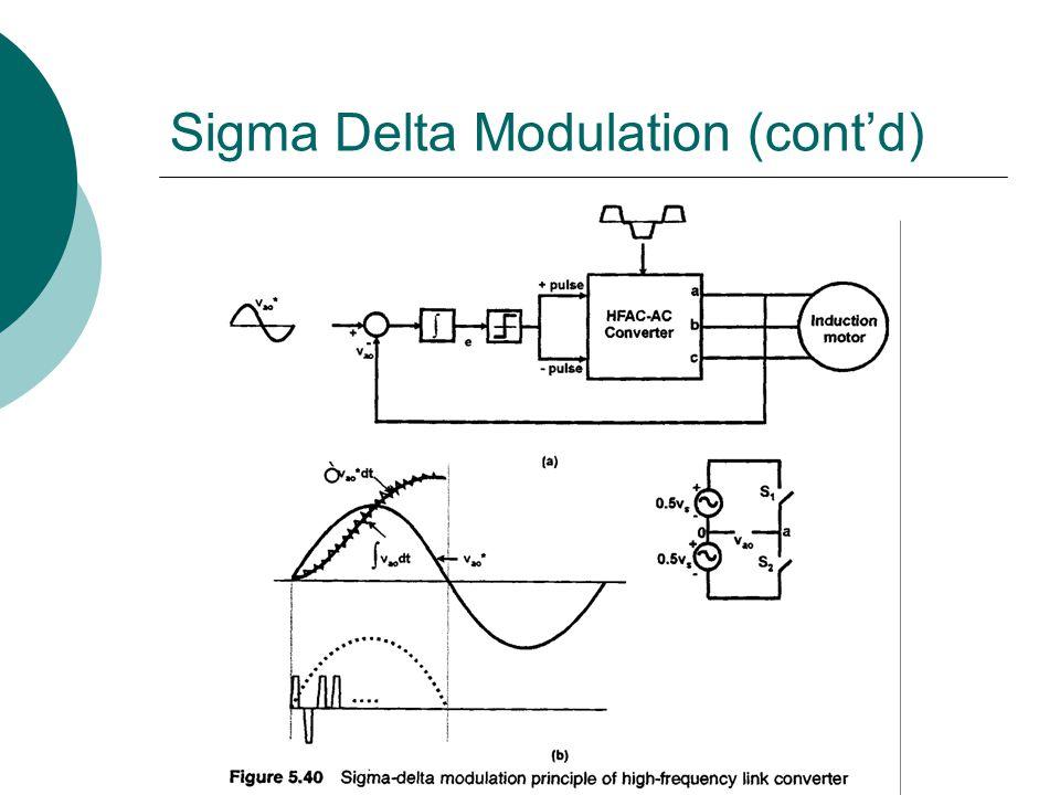 Sigma Delta Modulation (cont'd)