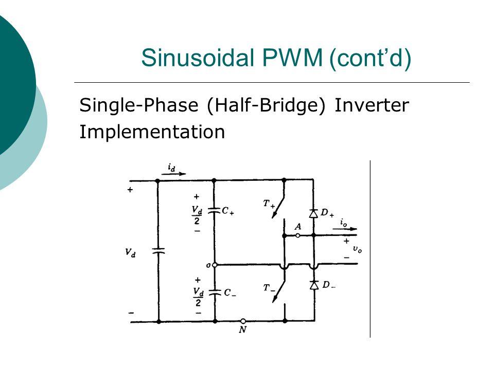 Sinusoidal PWM (cont'd) Single-Phase (Half-Bridge) Inverter Implementation