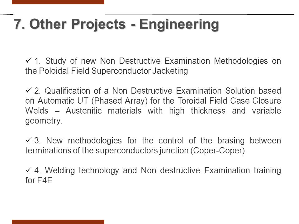 7. Other Projects - Engineering 1.