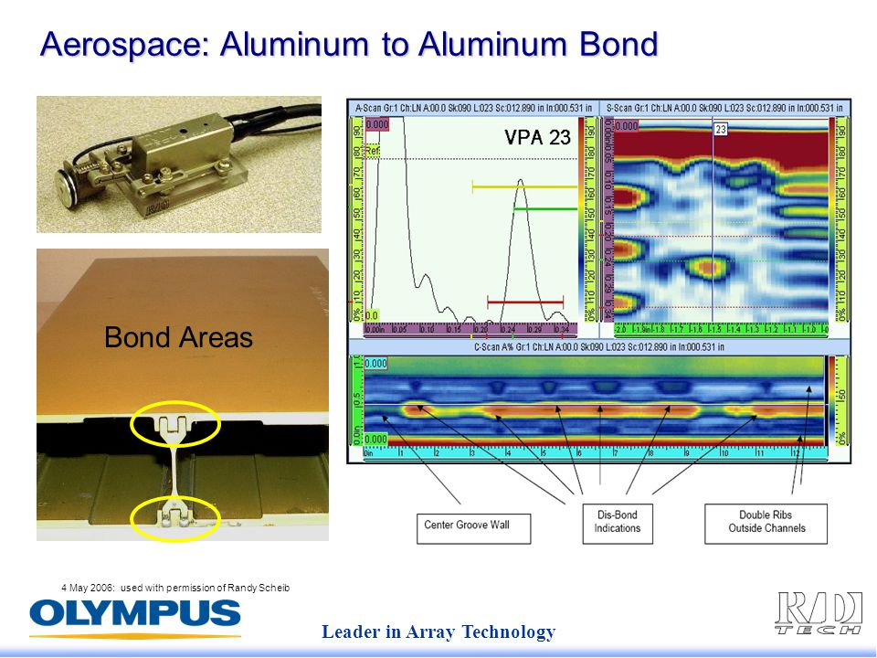 Leader in Array Technology 4 May 2006: used with permission of Randy Scheib Aerospace: Aluminum to Aluminum Bond Bond Areas