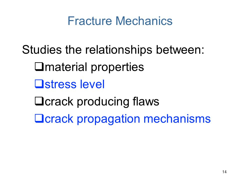 Stress Concentration The measured fracture strengths for most brittle materials are significantly lower than those predicted by theoretical calculations based on atomic bond energies.