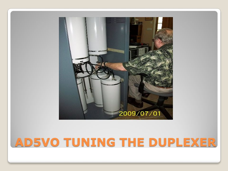 AD5VO TUNING THE DUPLEXER
