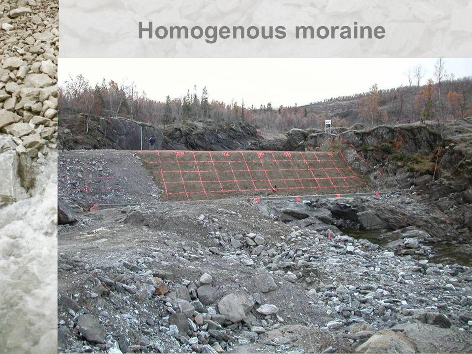 Homogenous moraine