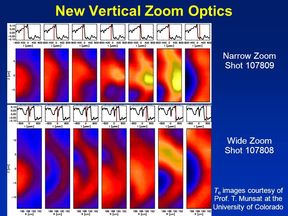 New Vertical Zoom Optics Wide Zoom Shot 107808 Narrow Zoom Shot 107809 T e images courtesy of Prof.