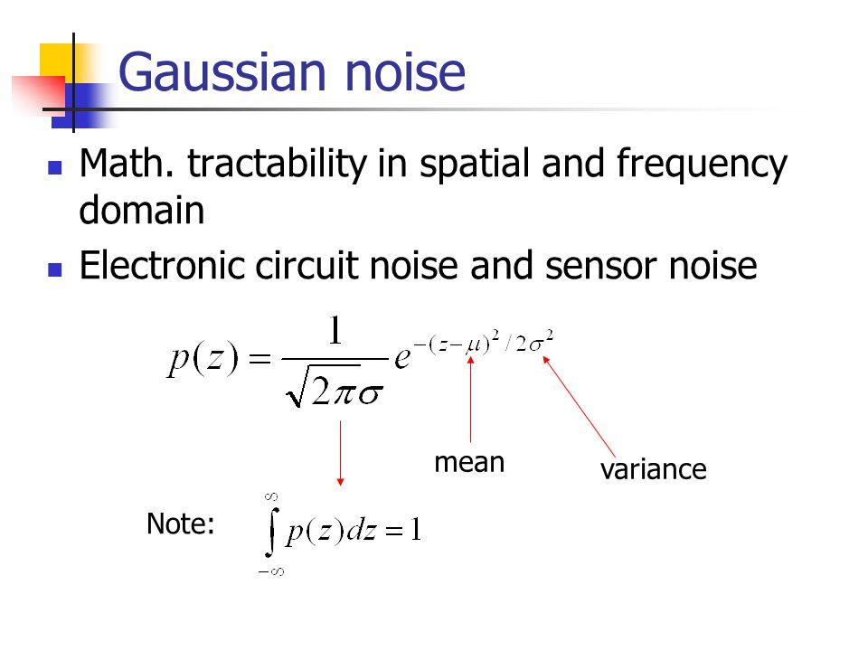 Gaussian noise Math.