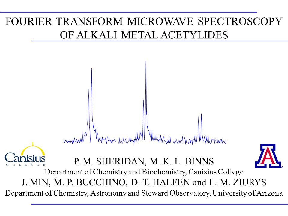 FOURIER TRANSFORM MICROWAVE SPECTROSCOPY OF ALKALI METAL ACETYLIDES P.