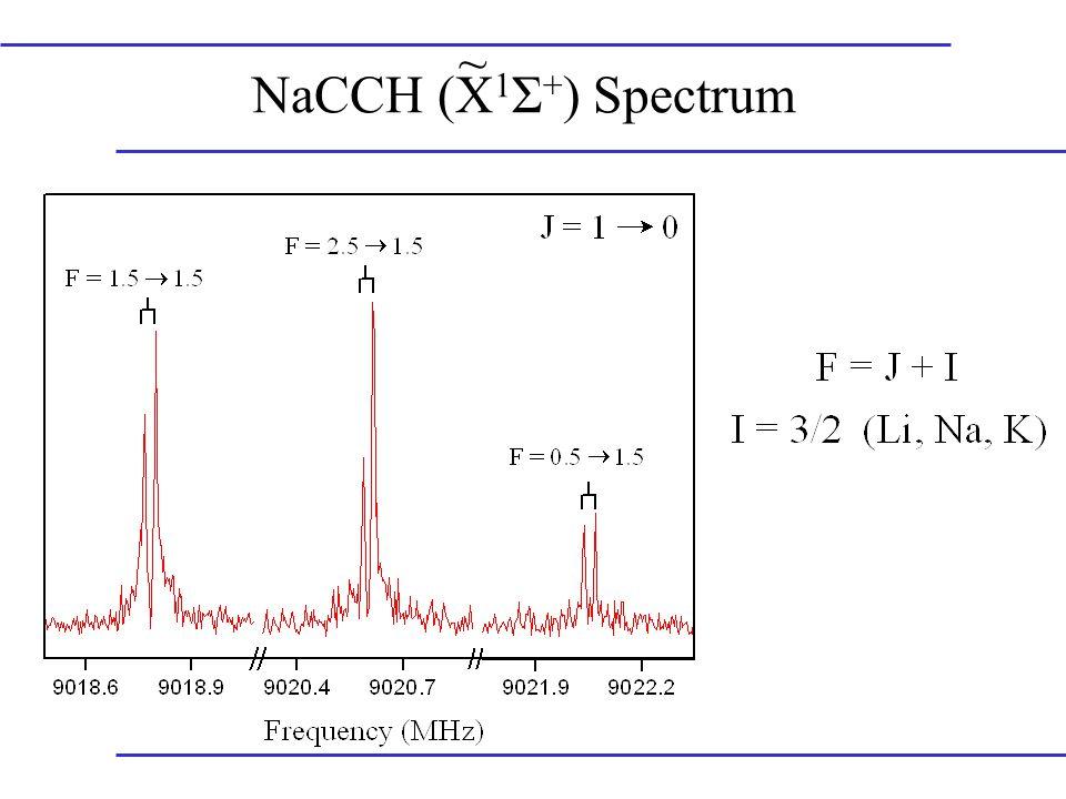 NaCCH (X 1 Σ + ) Spectrum ~
