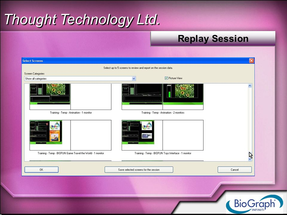 Thought Technology Ltd. Replay Session