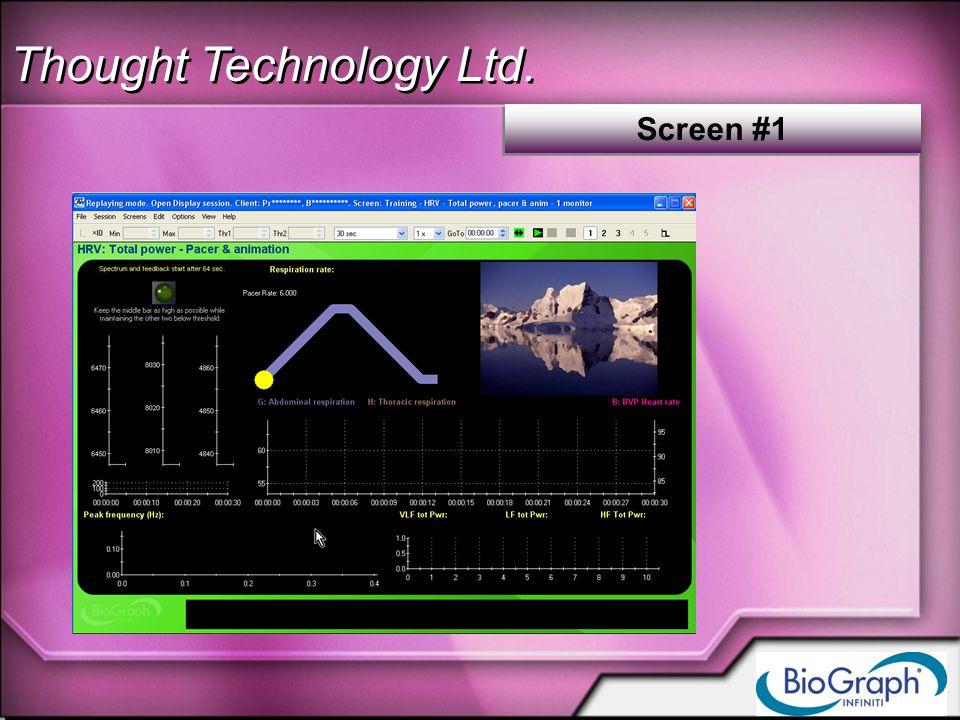 Thought Technology Ltd. Screen #1