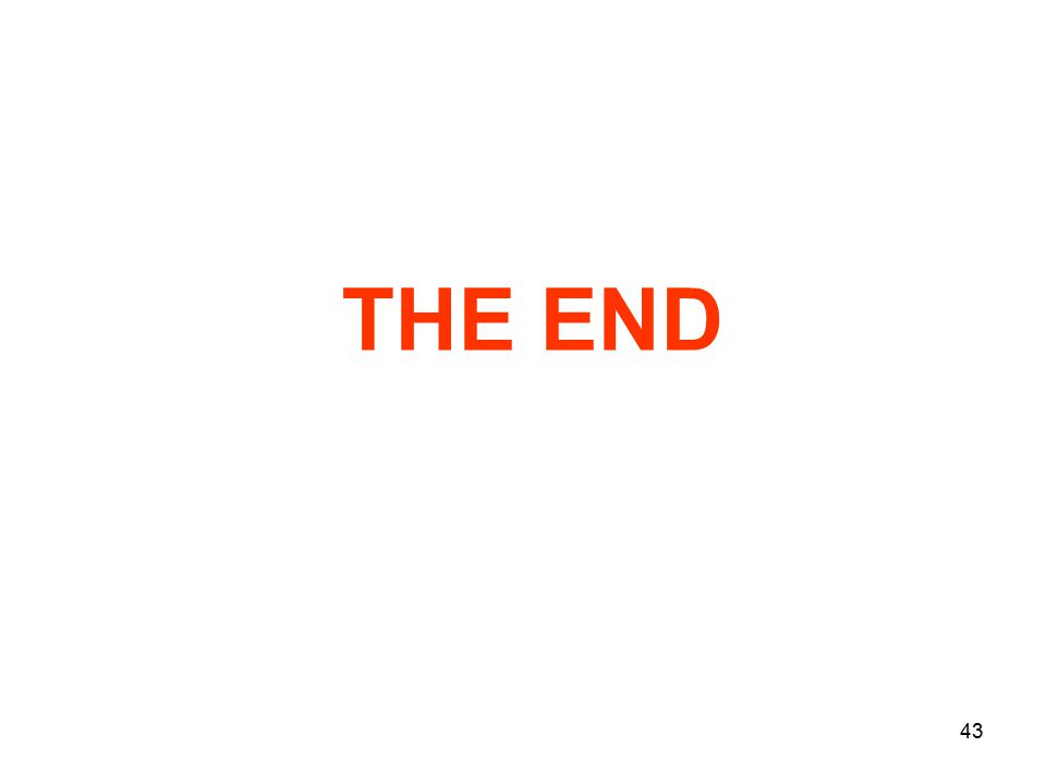43 THE END