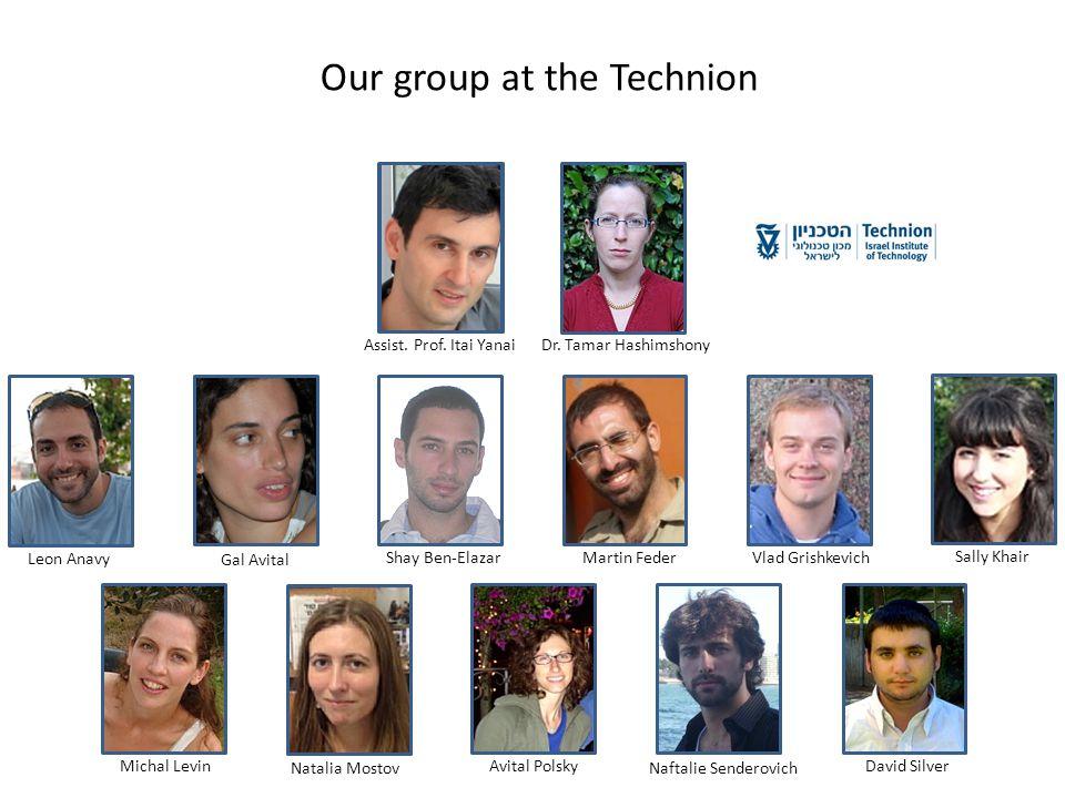 Vlad GrishkevichShay Ben-ElazarAvital PolskyDavid SilverMartin Feder Our group at the Technion Gal AvitalNaftalie Senderovich Natalia Mostov Leon Anavy Michal Levin Sally Khair Dr.