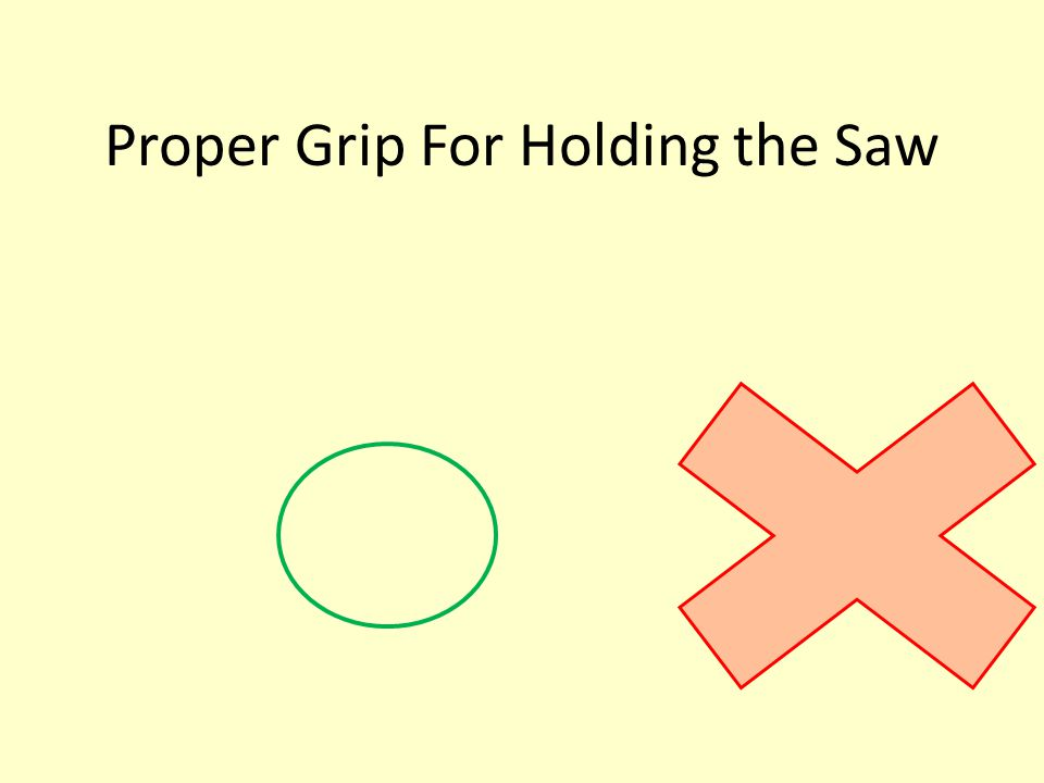 Proper Grip For Holding the Saw