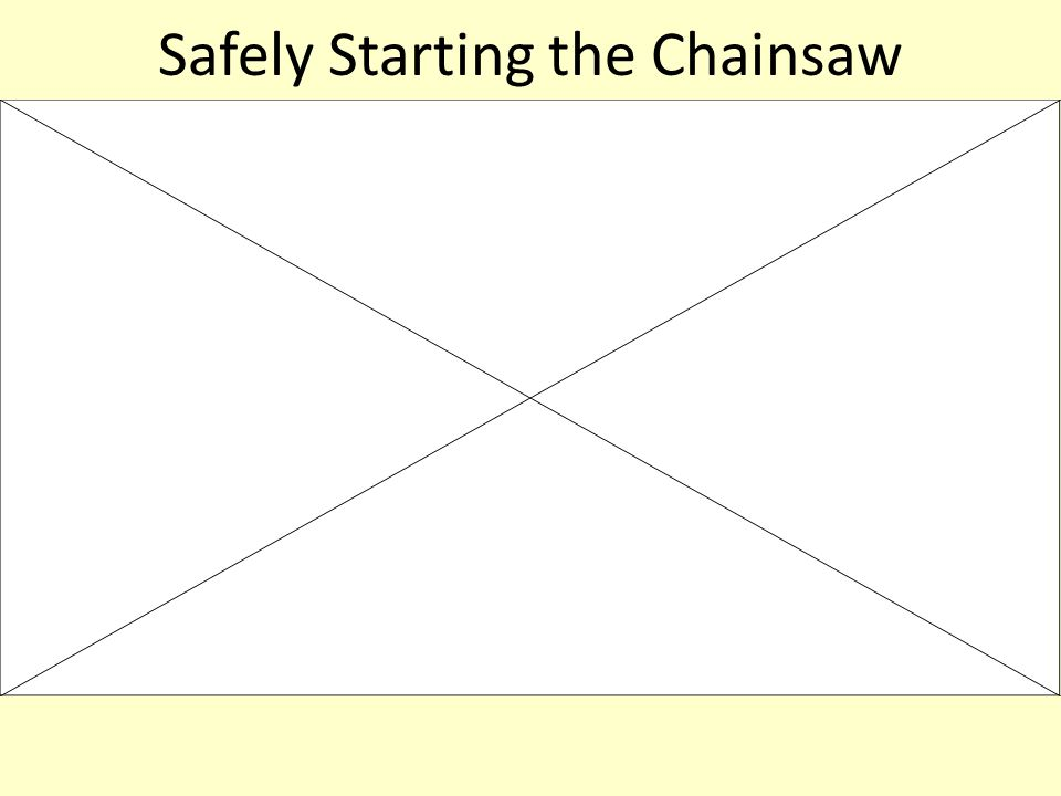 Safely Starting the Chainsaw