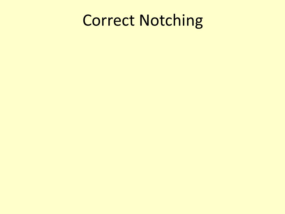Correct Notching