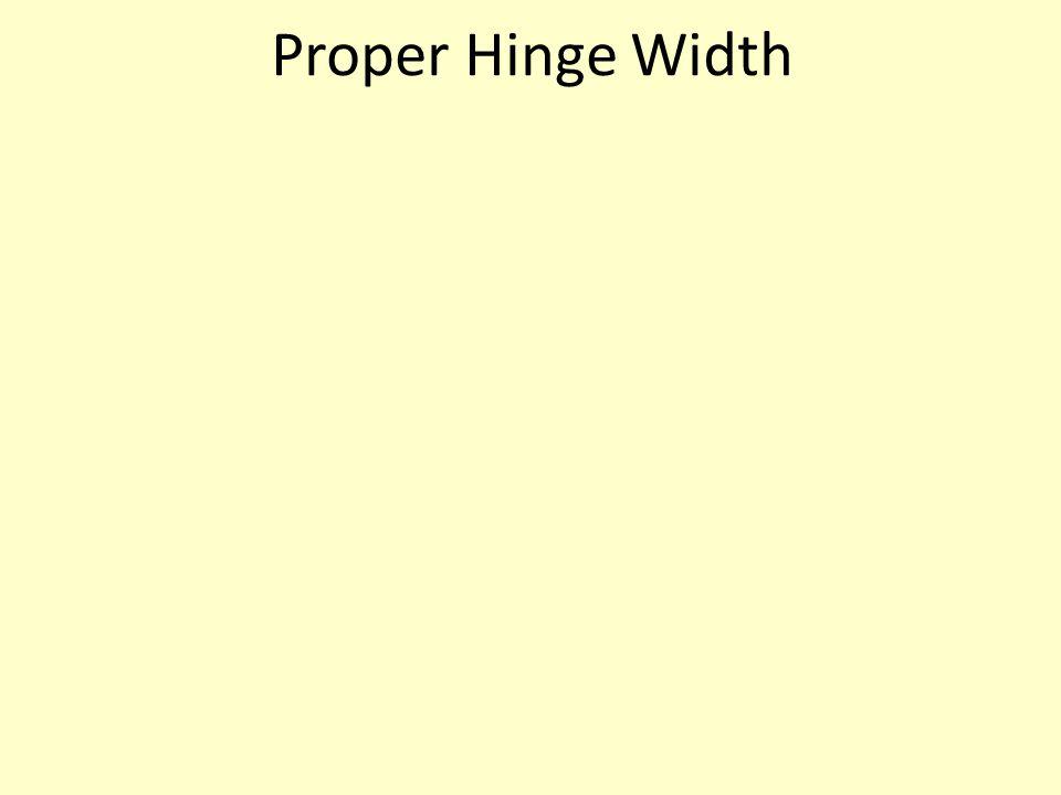 Proper Hinge Width