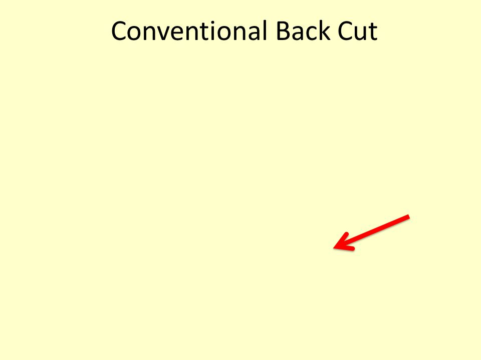 Conventional Back Cut