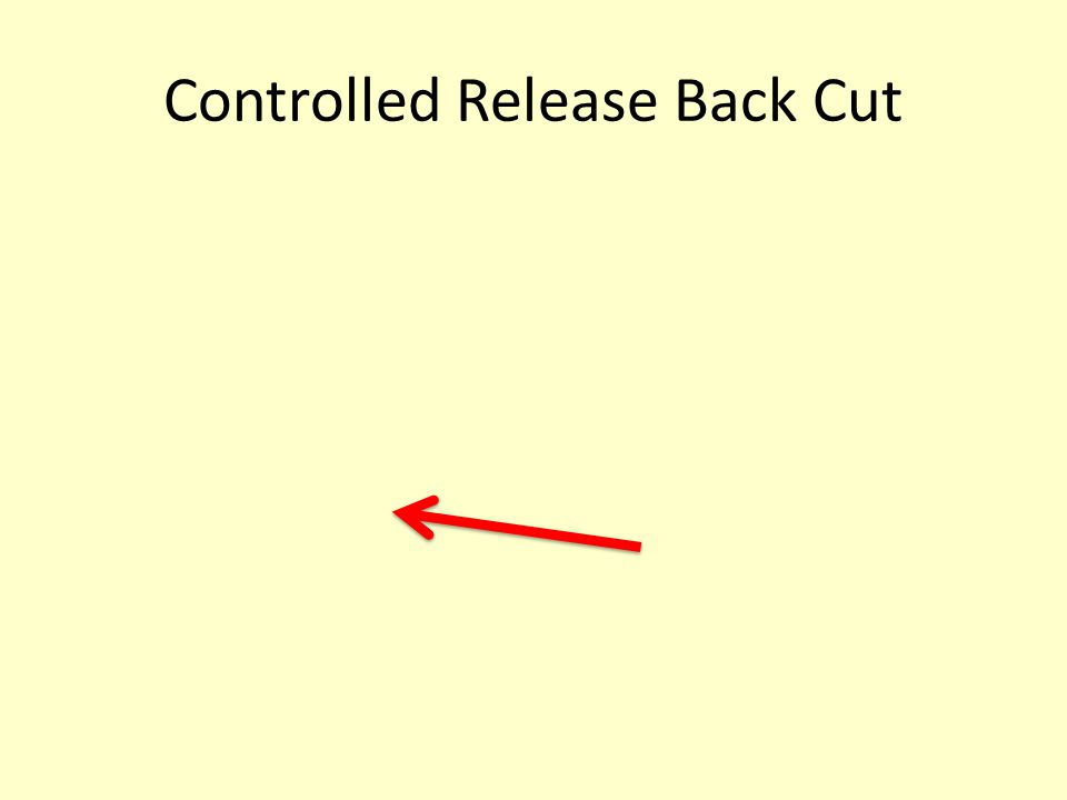 Controlled Release Back Cut