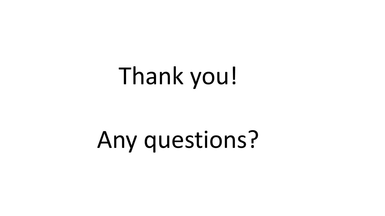Thank you! Any questions