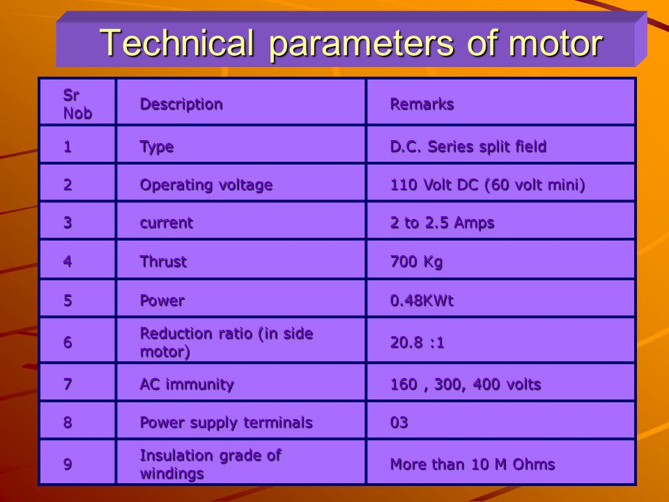 DC MOTOR main parts  Armature and commutator  Field winding  Carbon brushes  Motor body  Groove for crank handle
