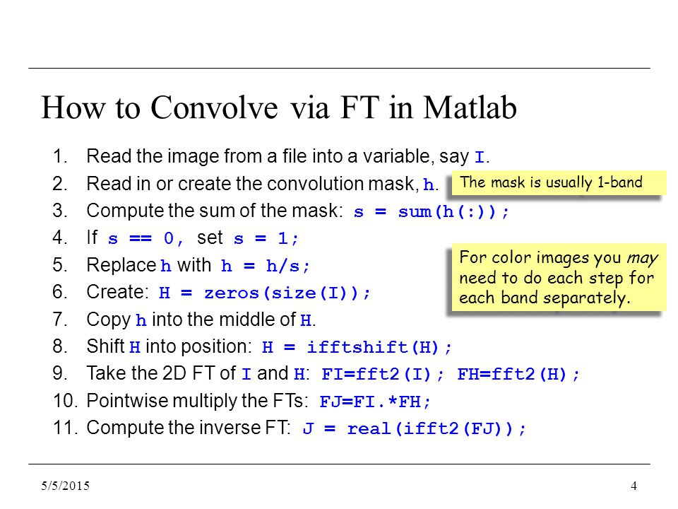 1.Read the image from a file into a variable, say I.