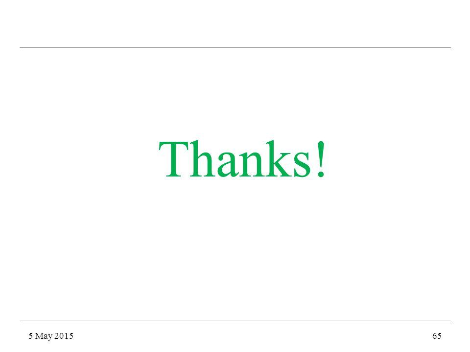 5 May 201565 Thanks!