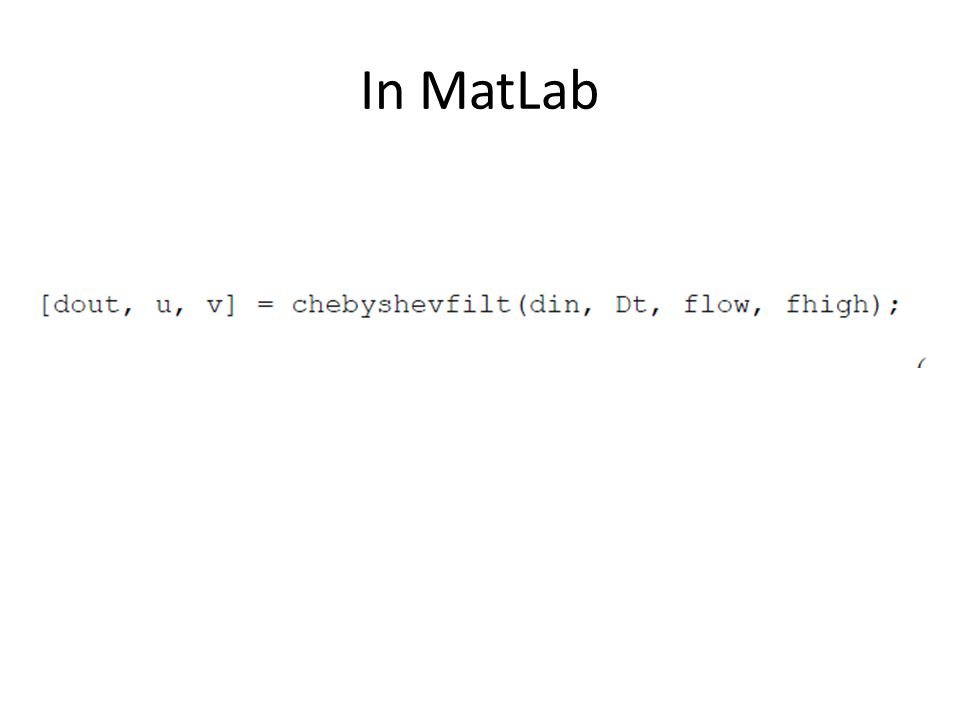 In MatLab