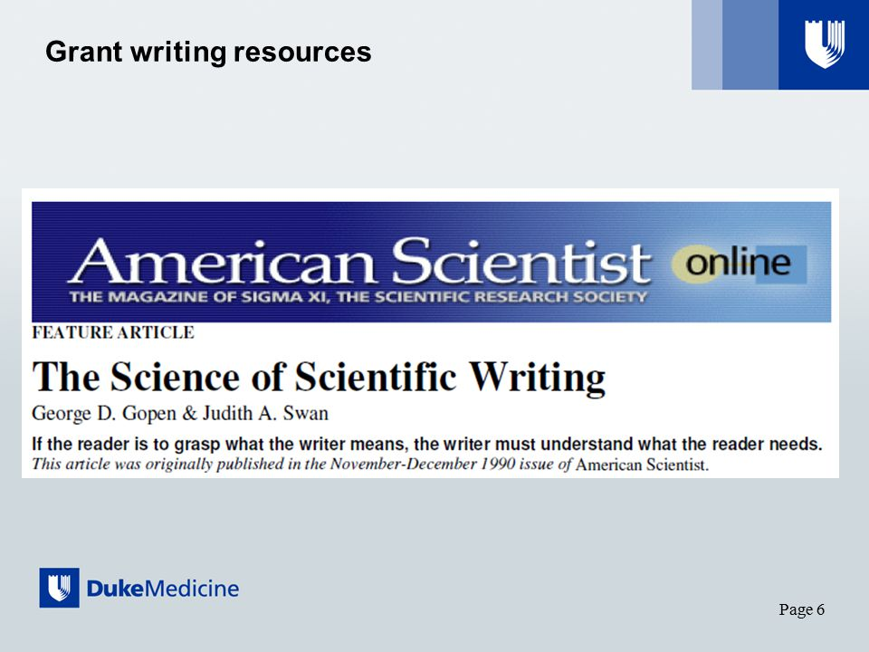 Page 6 Grant writing resources