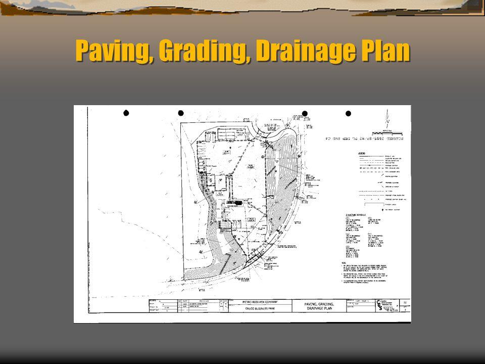 Paving, Grading, Drainage Plan