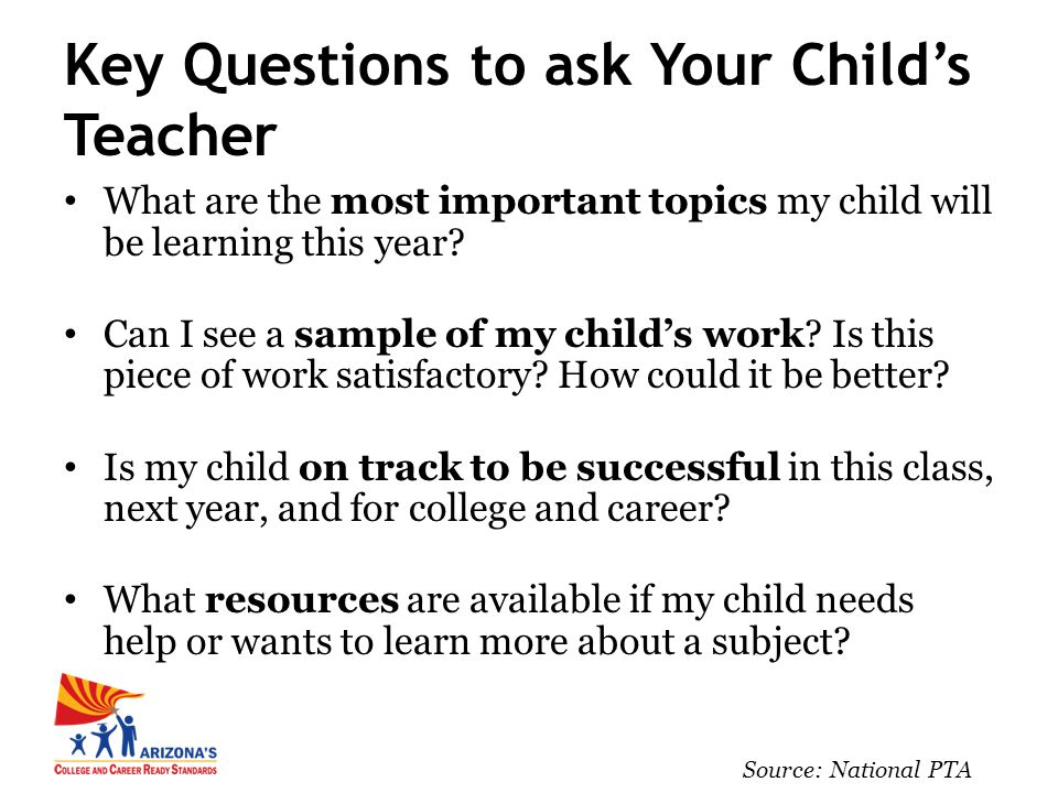 What are the most important topics my child will be learning this year.