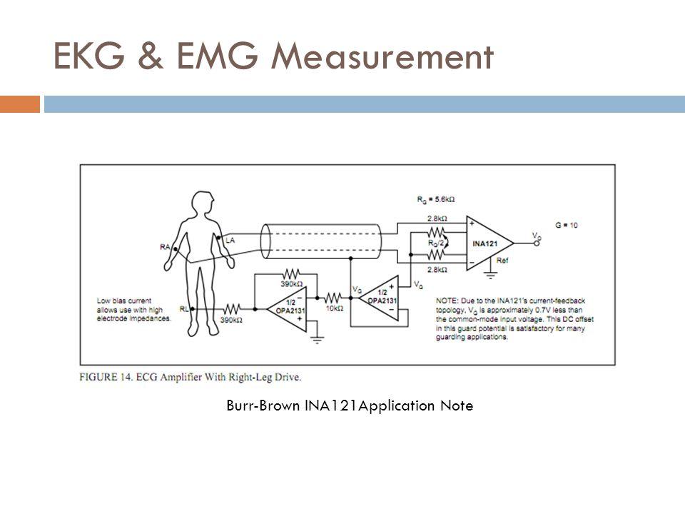 EKG & EMG Measurement Burr-Brown INA121Application Note