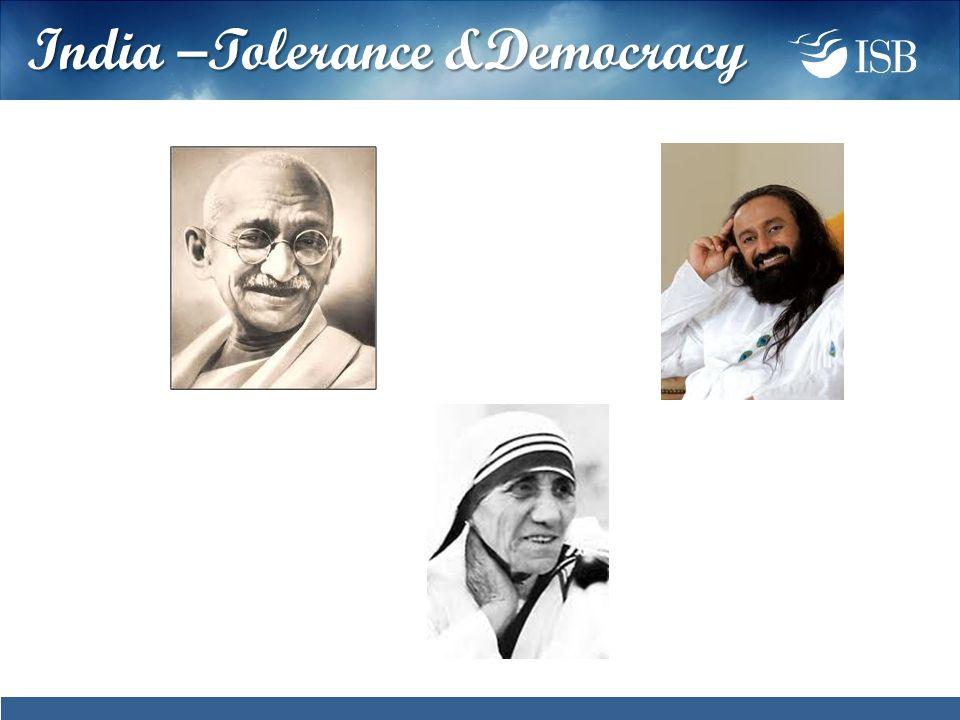 India –Tolerance &Democracy