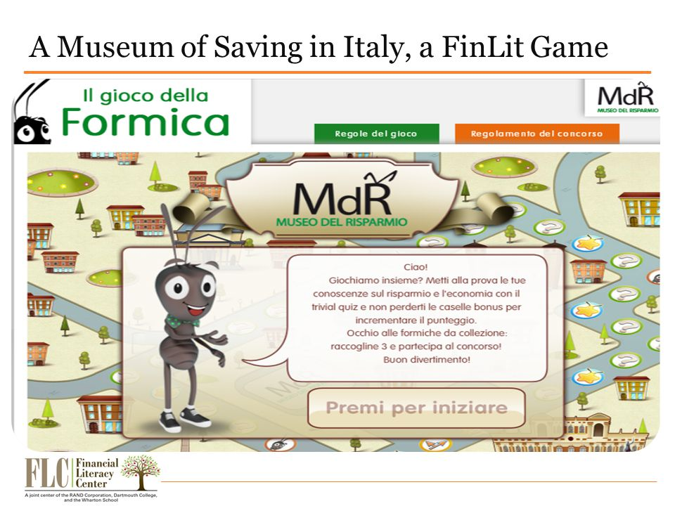 A Museum of Saving in Italy, a FinLit Game